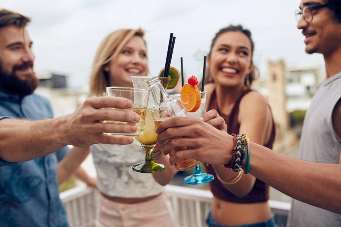 Teaka Tea Spirits - customers enjoying tea cocktails